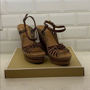 MIA brown leather espadrille